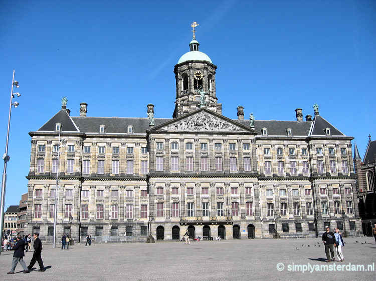 Royal Palace on Amsterdam Dam Square free for 1 day