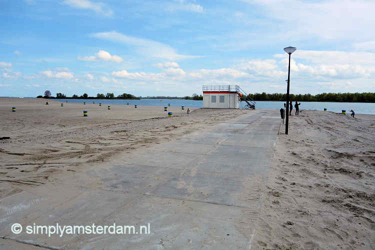 Urban beaches in Amsterdam
