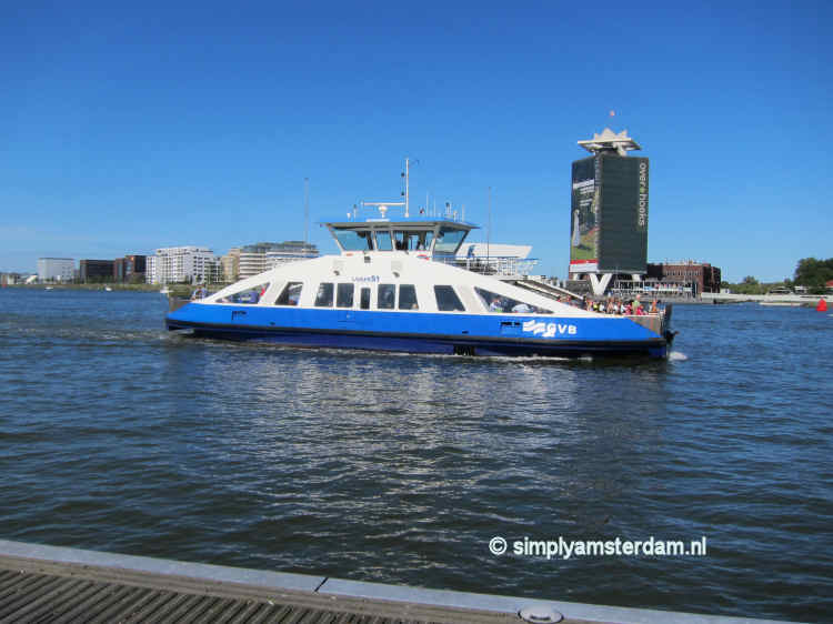 Ferry across the IJ, to Amsterdam North