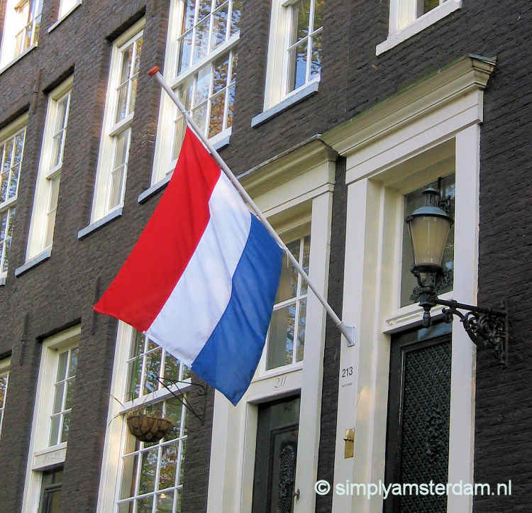 Dutch flag half mast