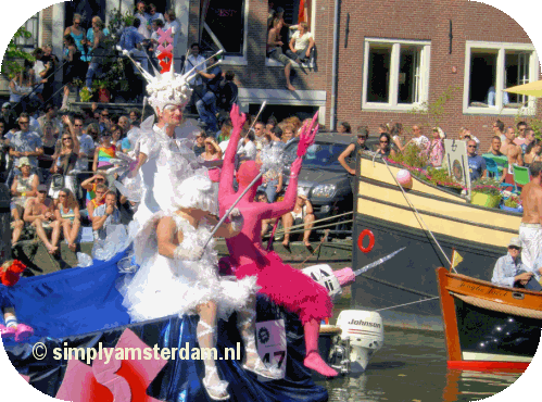Amsterdam Gay Pride canal parade tomorrow August 3