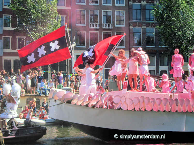 Today 19th edition of Amsterdam Gay Pride Canal Parade