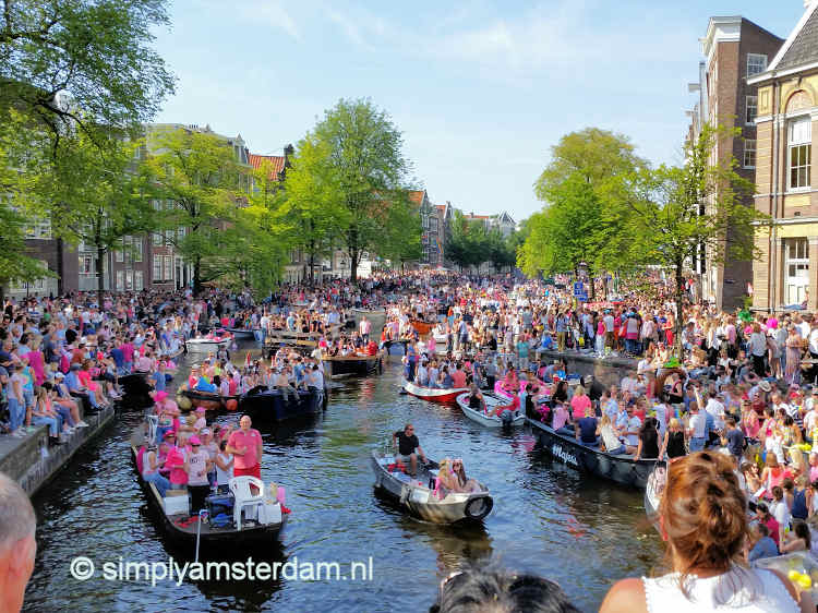 Busiest Amsterdam Gay Pride ever - police say