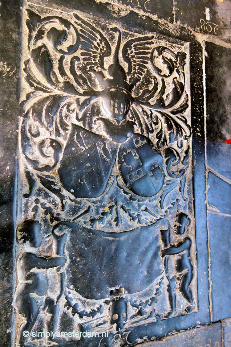 Tombstone Sint Bavo church in Haarlem