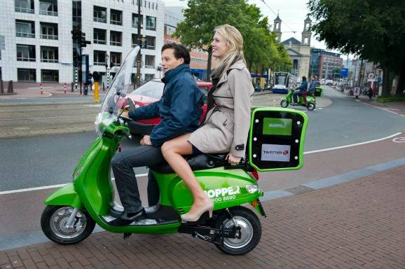 New scooter taxi company in Amsterdam - E 2.50 per ride