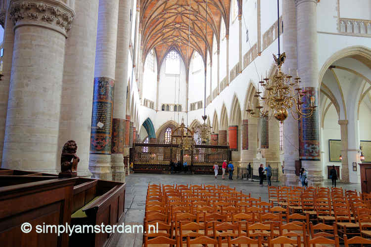 Interior Sint Bavo church in Haarlem