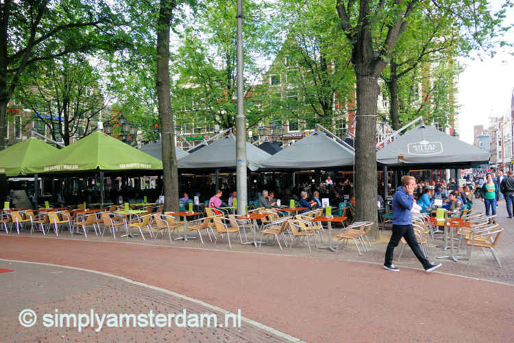 Outdoor cafes on Leidseplein