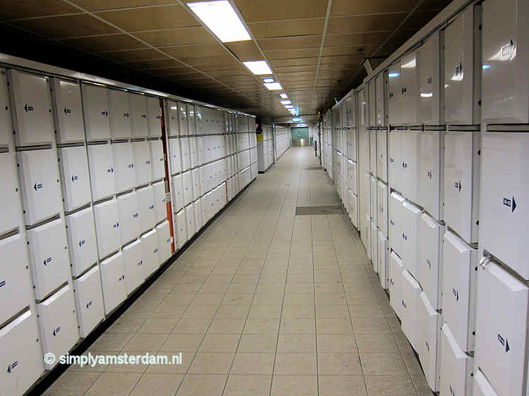 Lockers at Amsterdam Central Station