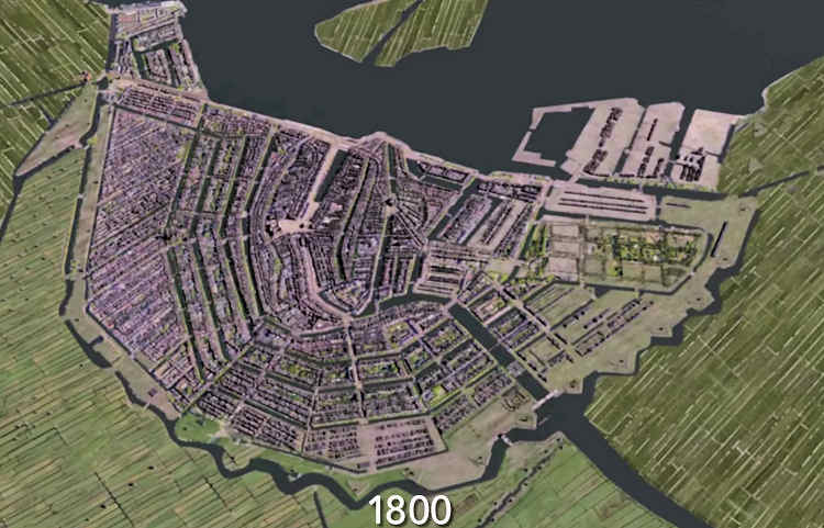 Animation Second Golden Age of Amsterdam 1800-1900