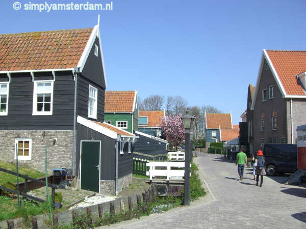 Traditional wooden houses on Marken