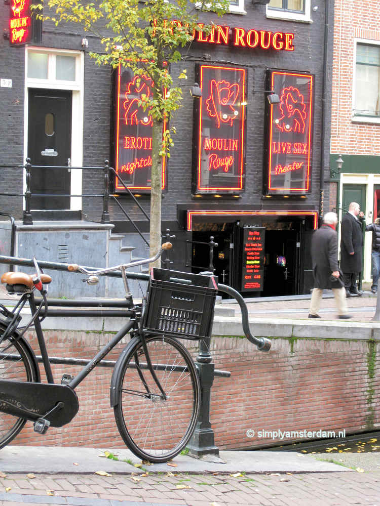 Erotic theatre Moulin Rouge in Amsterdam Red Light District