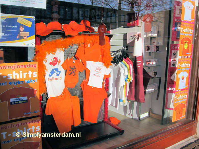 Queens Day shop window