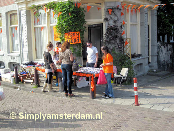 Queensday sales stand