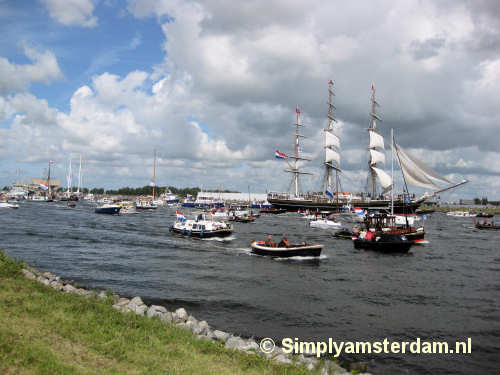 SAIL 2010 has arrived in the Amsterdam harbour