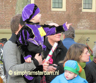 Child dressed up as Sinterklaas helper