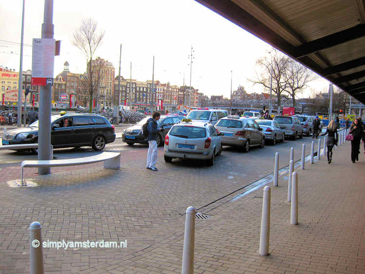 Taxi stand Amsterdam Central Station