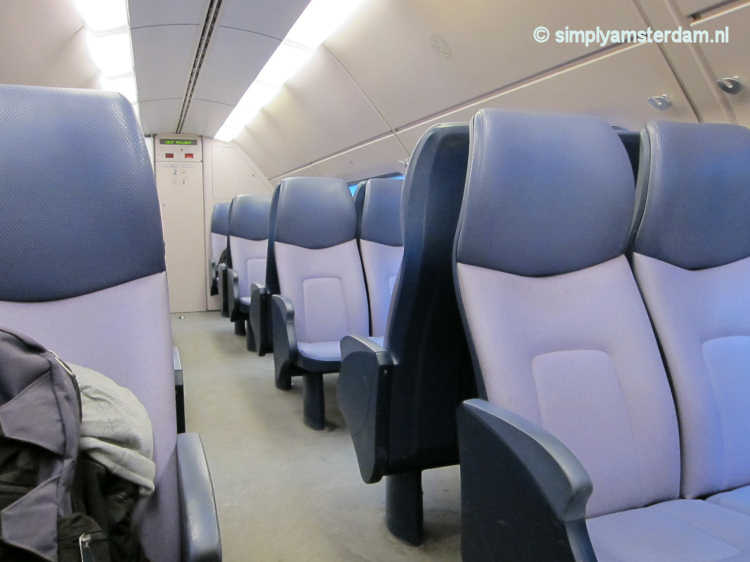 Train compartment in Dutch double decker train