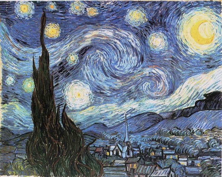 Starry nights by Van Gogh