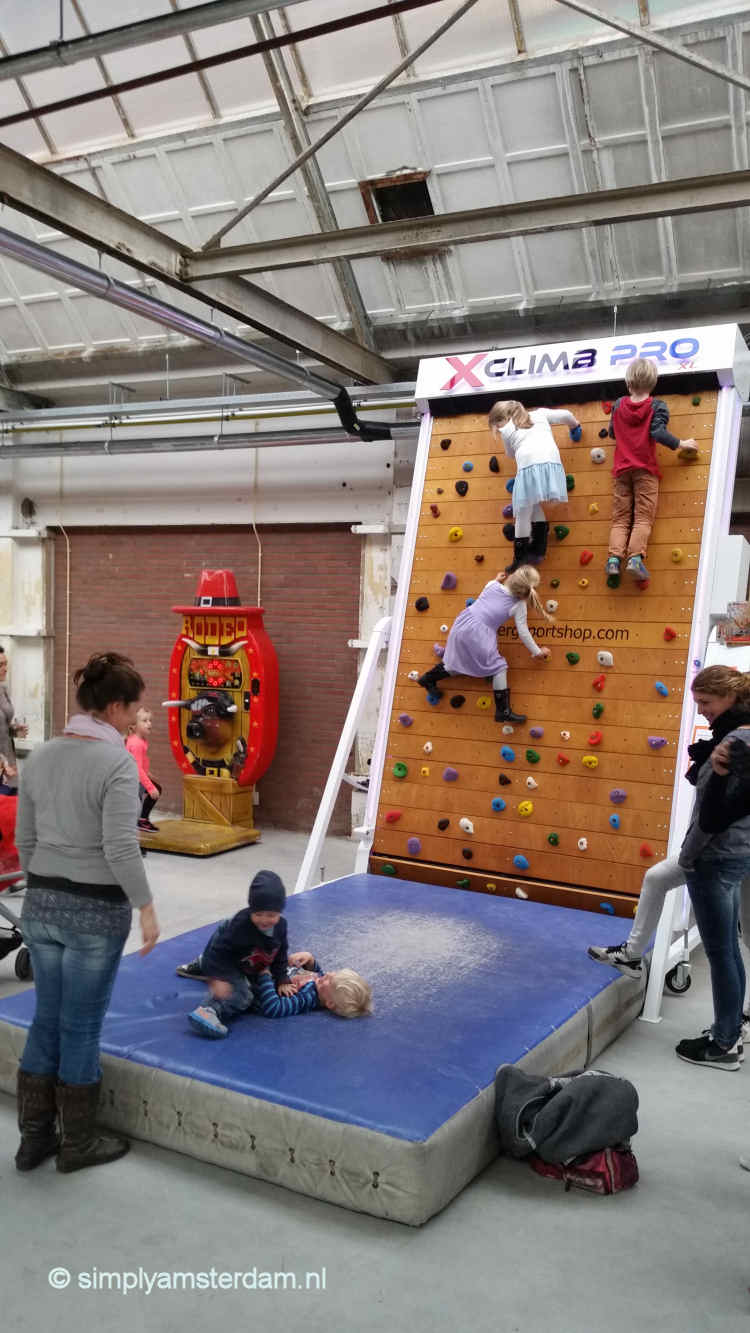 Climbing wall for children at Yada Yada